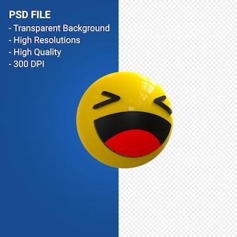 Reações emoji 3d do facebook divertidas isoladas