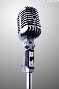 Realista do vintage microfone em camadas psd