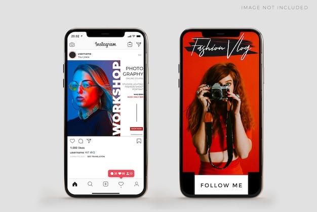 Realista móvel smartphone mockup scene creator com sobreposição de sombra