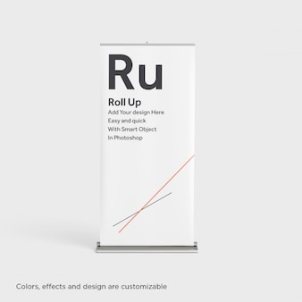 Realistic roll-up mock up