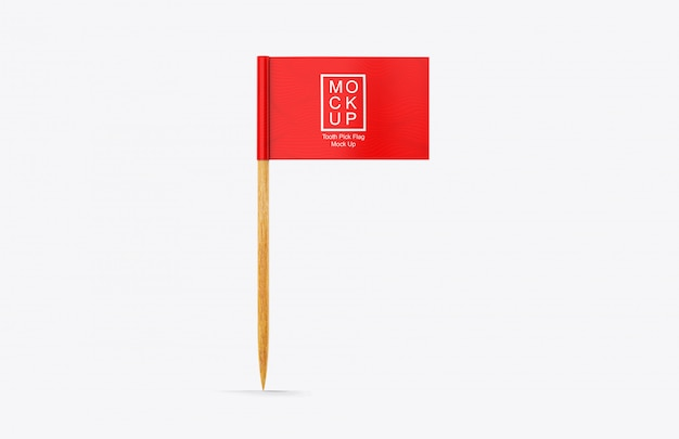 Realistictooth pick flag mockup