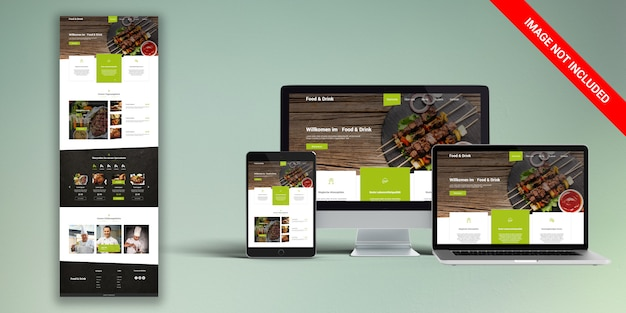 Reastaurant web modelo psd