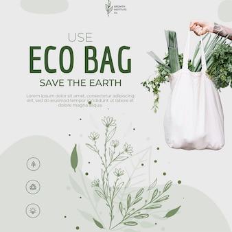 Reciclagem de saco ecológico para ambiente e compras