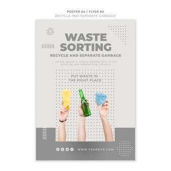 Reciclar conceito de design de modelo de folheto