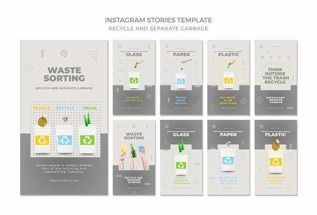 Reciclar histórias de conceito do instagram