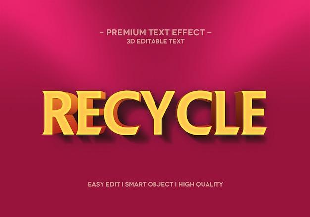 Reciclar modelo de estilo de efeito de texto