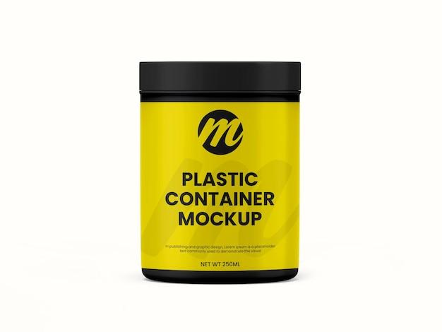Recipiente de plástico ou maquete de frasco de suplemento