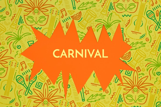 Recorte de carnaval brasileiro