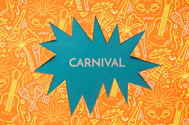 Recorte de papel de carnaval brasileiro
