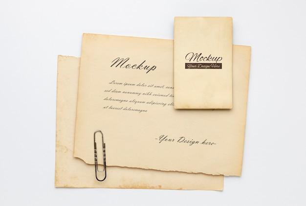 Recursos de coleta de artigos de papelaria vintage