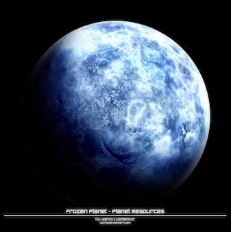 Recursos do planeta congelado plano