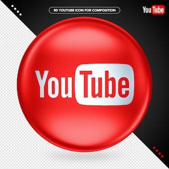 Red ellipse 3d youtube para composição