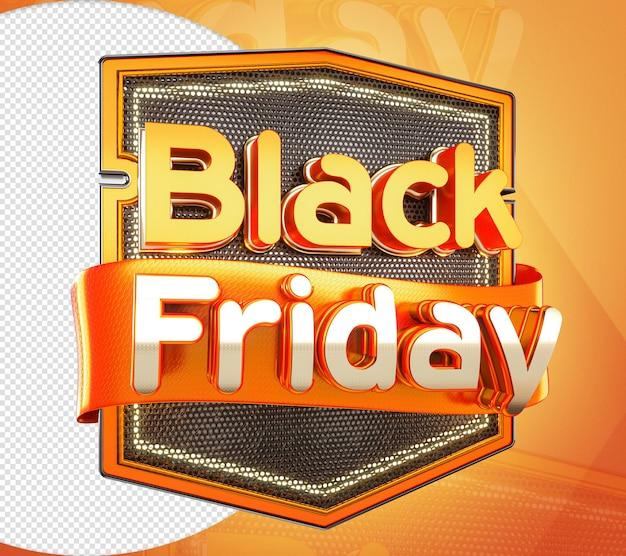 Redes de ferro black friday 3d orange stamp para venda a retalho e comércio