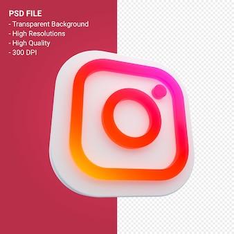 Redes sociais do instagram 3d isoladas