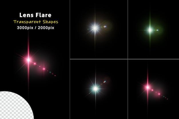 Reflexo de lente de natal forças realistas e efeito de luz de impacto
