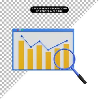 Relatório de dados de renderização 3d