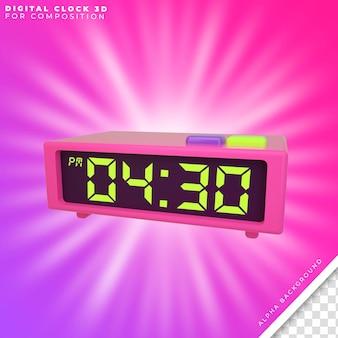 Relógio digital 3d