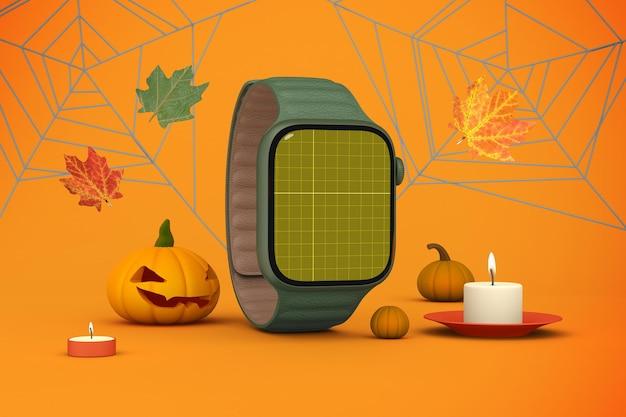 Relógio inteligente de halloween