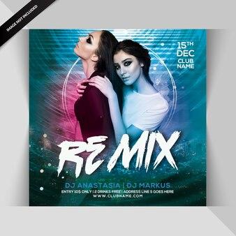 Remix flyer de festa à noite
