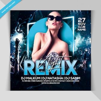 Remix modelo de banner de festa à noite