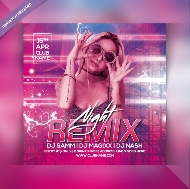 Remix panfleto de festa à noite