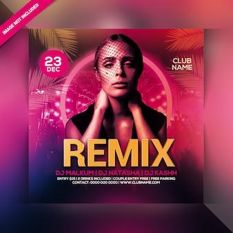 Remix party flyer