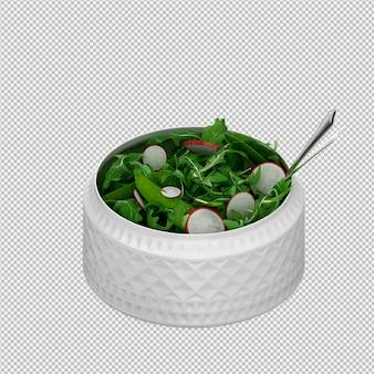 Render 3d isométrica salat