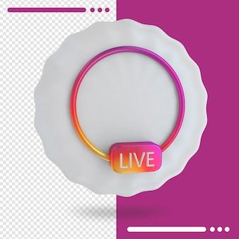 Renderização 3d ao vivo do instagram