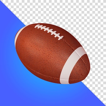Renderização 3d bola de futebol americano isolada
