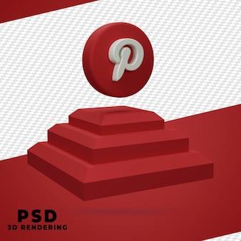 Renderização 3d box pinterest