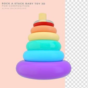 Renderização 3d brinquedo de bebê