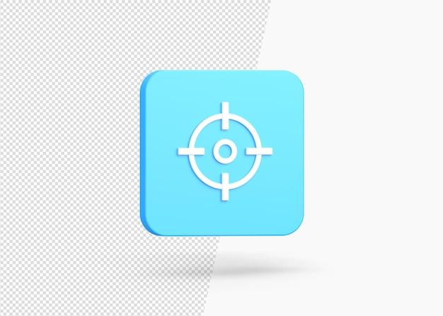 Renderização 3d com foco isolado no alvo