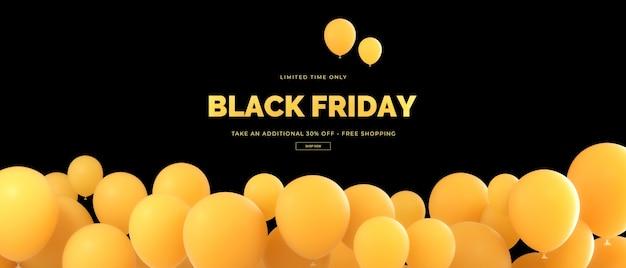 Renderização 3d da black friday sale