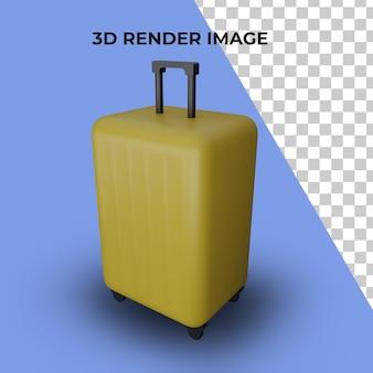 Renderização 3d da mala