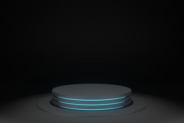 Renderização 3d da maquete de exibição do palco blackfriday