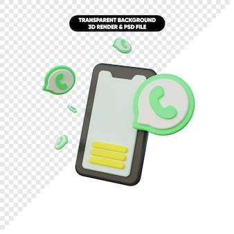 Renderização 3d da notificação de bate-papo recebida
