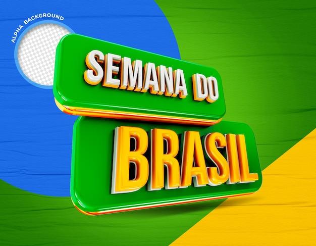 Renderização 3d da semana do brasil