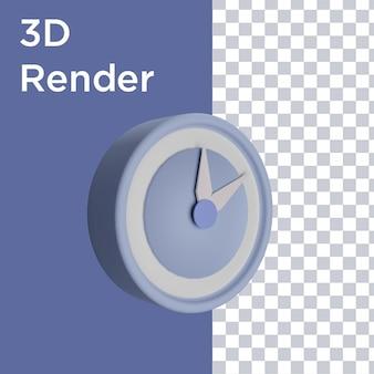 Renderização 3d da vista lateral do relógio