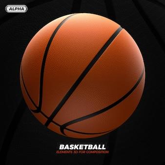 Renderização 3d de basquete