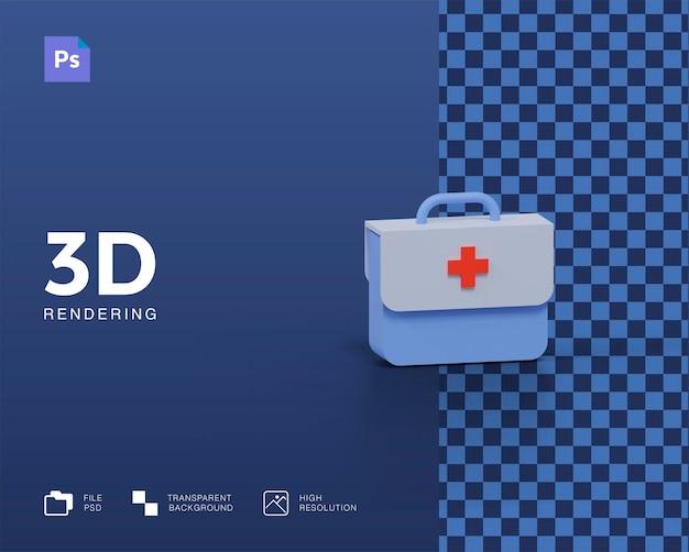 Renderização 3d de bolsa médica isolada