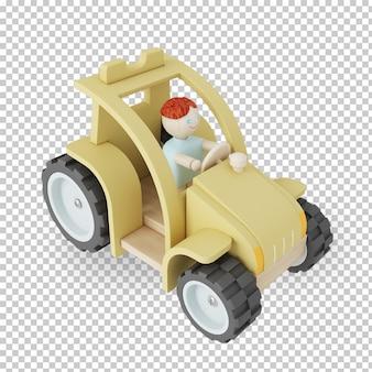Renderização 3d de brinquedo infantil