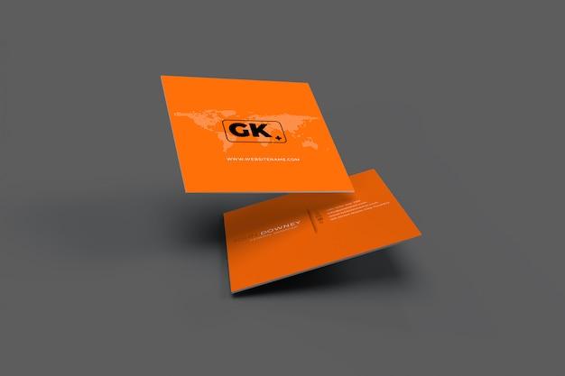 Renderização 3d de cartões de visita mockup presentation Psd Premium