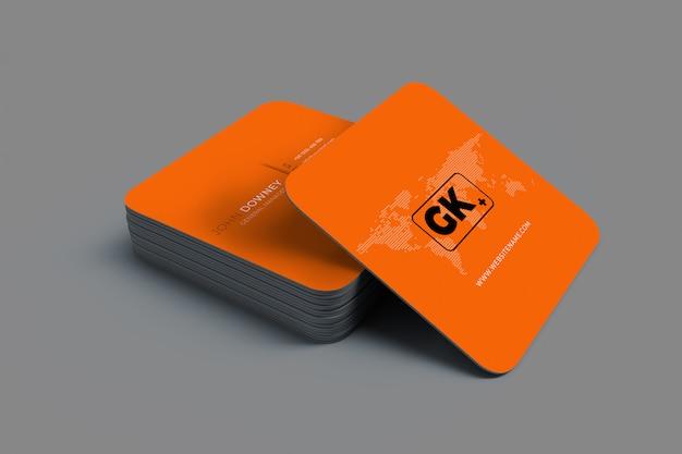 Renderização 3d de cartões de visita mockup presentation
