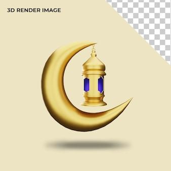 Renderização 3d de decoração islâmica