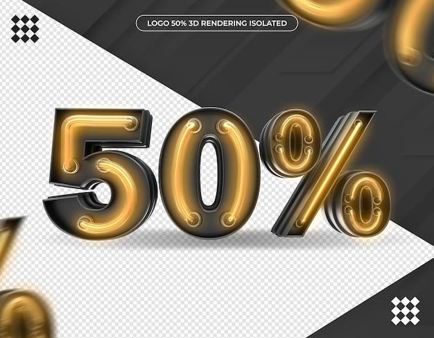 Renderização 3d de design de 50%