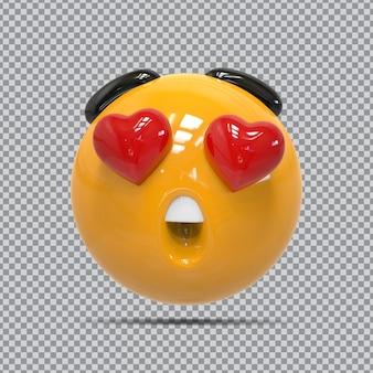Renderização 3d de emoji de mídia social