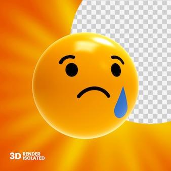Renderização 3d de emoji isolada