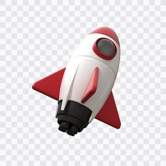 Renderização 3d de foguete espacial
