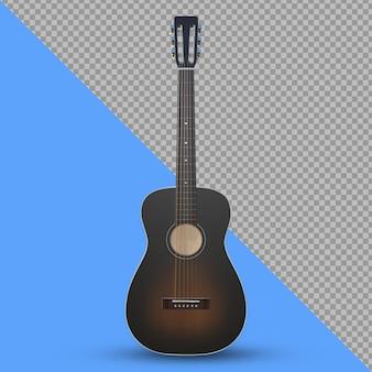 Renderização 3d de instrumento de guitarra acústica isolada