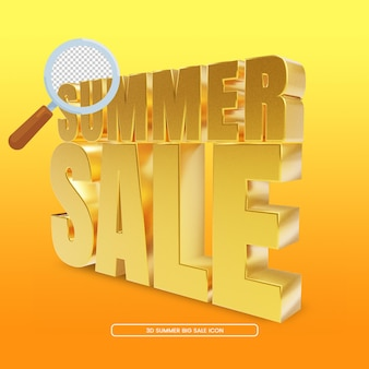 Renderização 3d de liquidação de verão